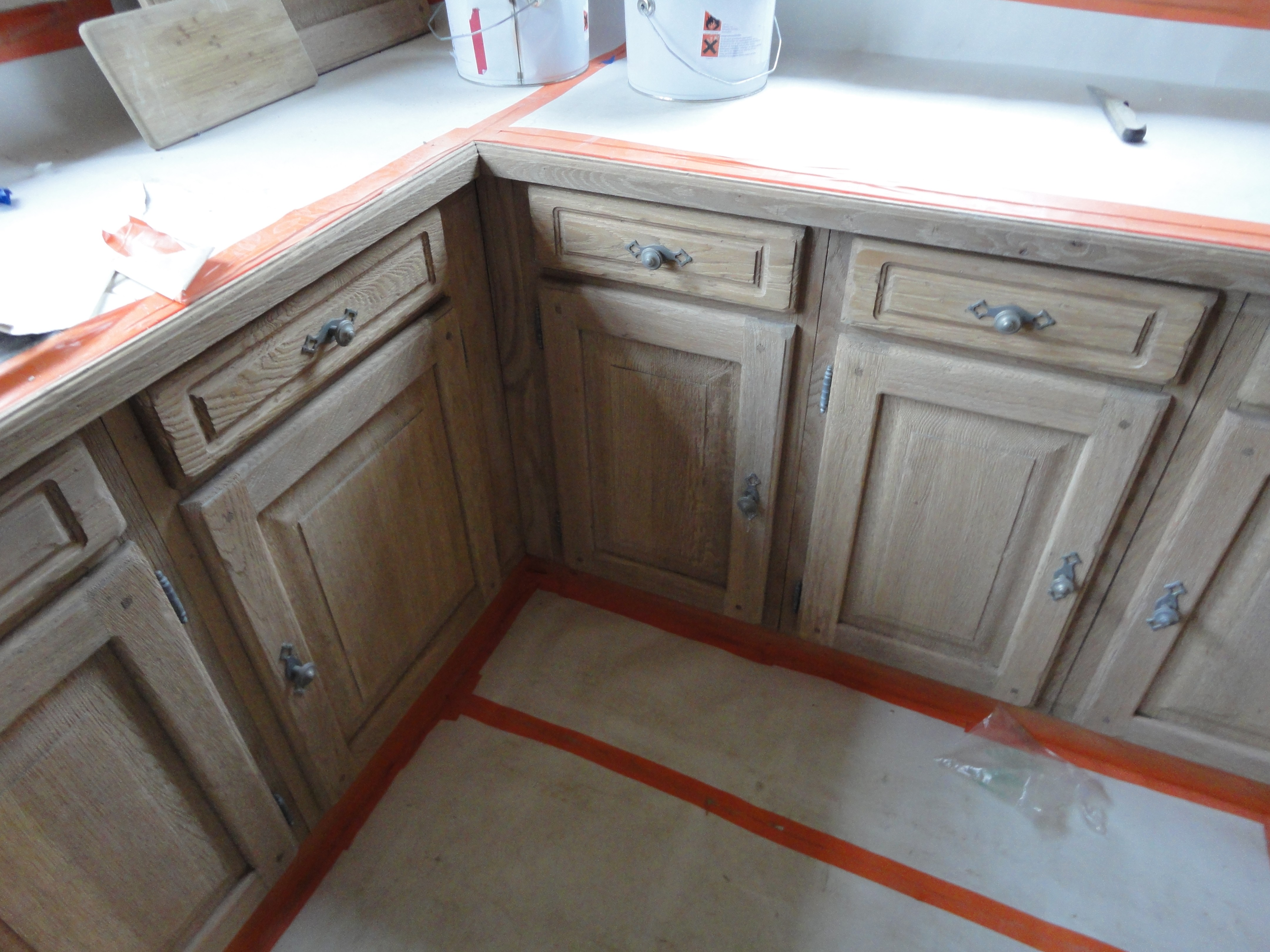 Eiken Keuken Opknappen : Zandstralen keuken renoveren van massieve eiken keukens