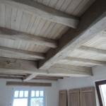 zandstralen houten balken