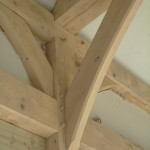 zandstralen van houten balken